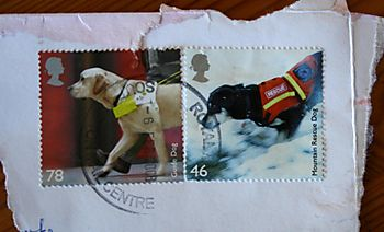 Service dog stamps
