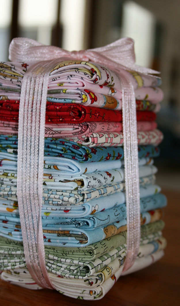 Stack of stitches fabric