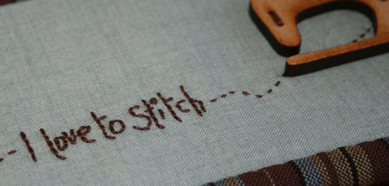 I love to stitch