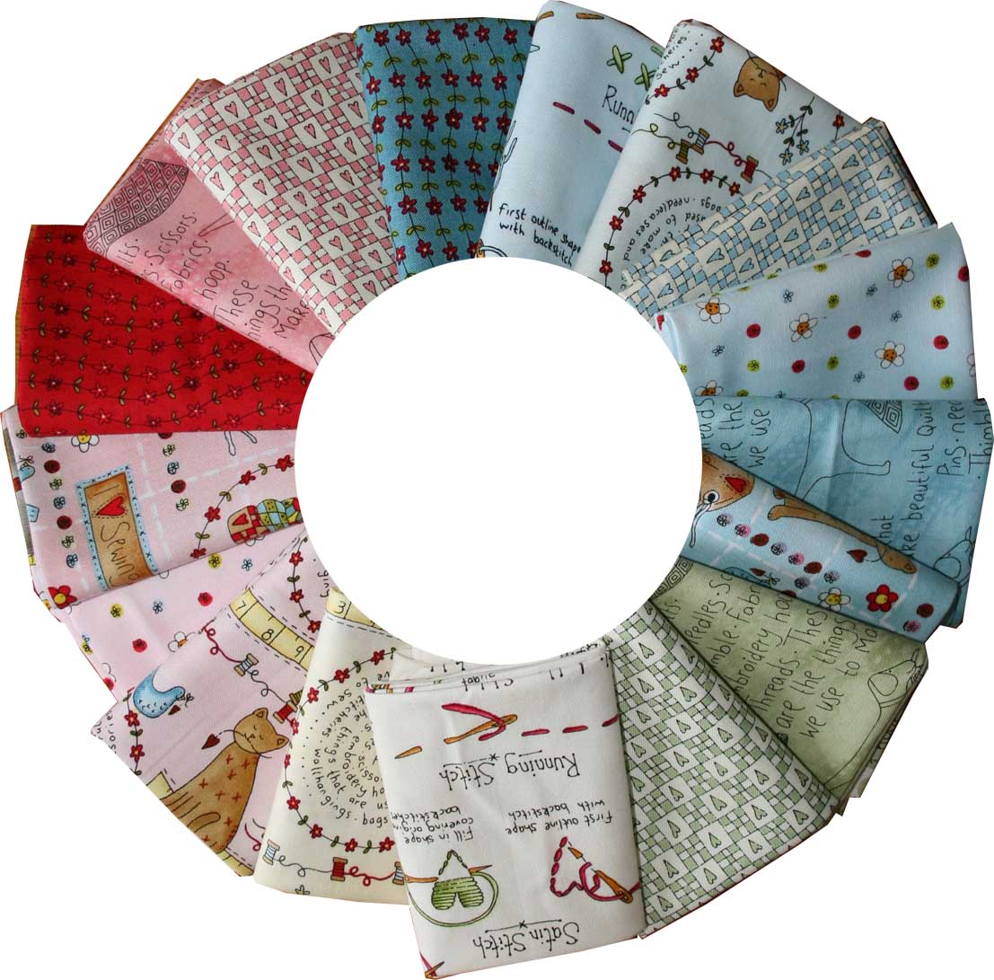 Circle of stitches fabric