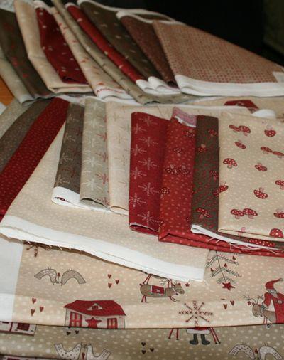 Scandinavian christmas fabrics