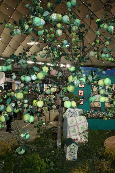 Fabric apple tree