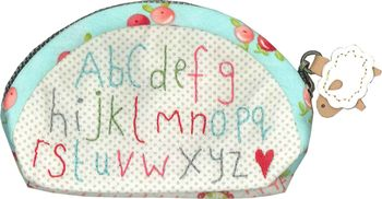 Small pretty alphabet purse