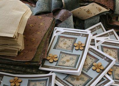 Pincushion pattern and fabrics