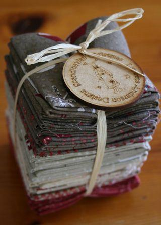 Scandinavian fabric tag on fabric