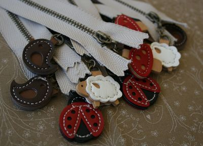Zippers with charms