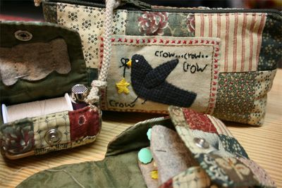 Crow pencil case and purse
