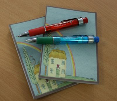 Note pads and pens
