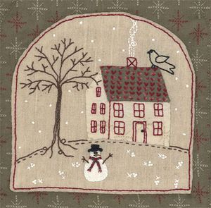 Winter house bag stitchery