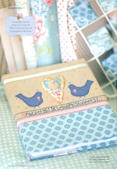 Lynettes tilda journal cover