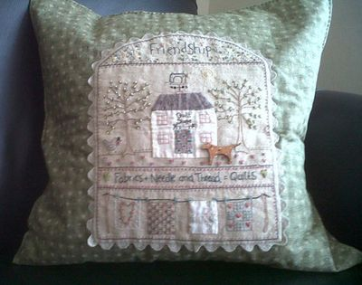 Quilt shoppe pillow