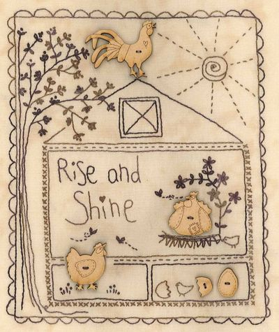 Rise and shine little stitchery small