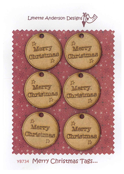 YB734 Merry Christmas Tags