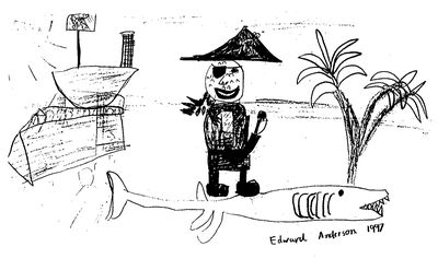 Eddies pirate drawing