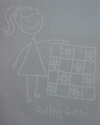 Quilting queen sticker