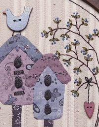Birdhouse Blossom buttons