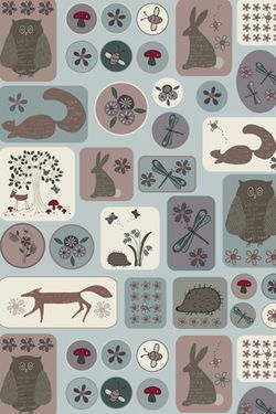 Wildflower Wood Animals Background