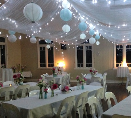 Decorating An Empty Hall For A Wedding