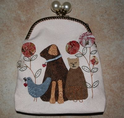 Cats and dogs purse
