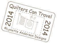 Quilters can travel stamp