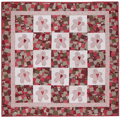 Y197 Gingerbread Man Quilt small