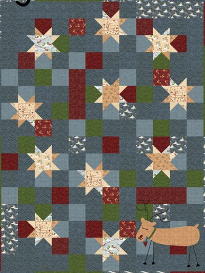 """Magical Christmas"" Free Quilt Pattern designed by and from Lynette Anderson Designs"