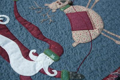 Flying Santa Table runner2