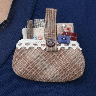 Sewing basket brooch