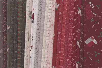 Candy Cane Angels Fabric small