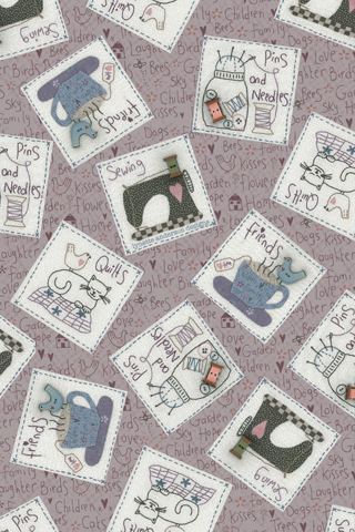 Sewing friends background
