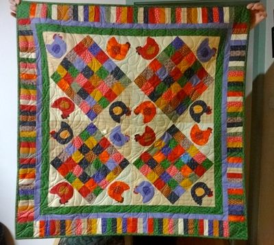 Hen quilt by Elyte