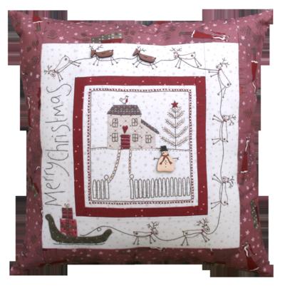 Winter Village Christmas Eve Pillow