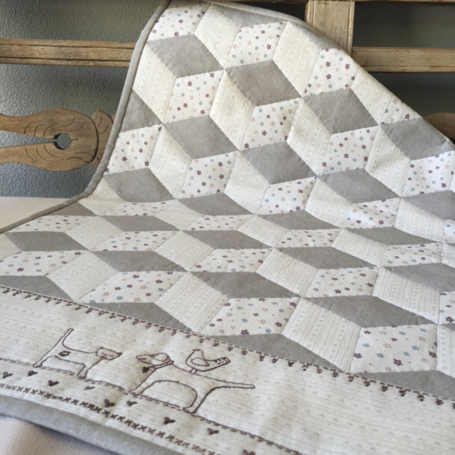 """First Love Baby Quilt"" Free Stitchery for Quilting Pattern designed by Lynette Anderson from Lynette Anderson Designs"