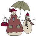Snowmen and Umbrella-01