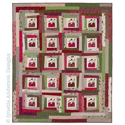 Y195 Wonky Santas Winter Village