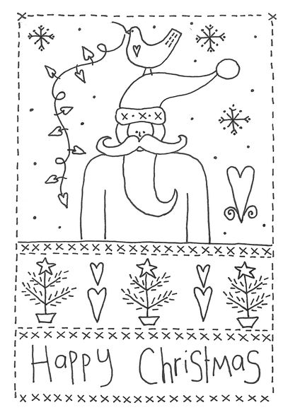 Christmas stitchery design