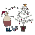 Snowman and Tree-01
