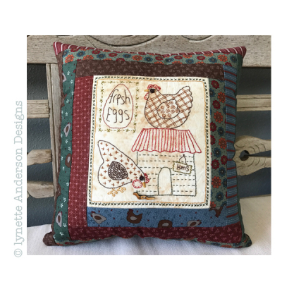 Y315 Hens Live Here Pillow