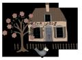 Quilters garden house