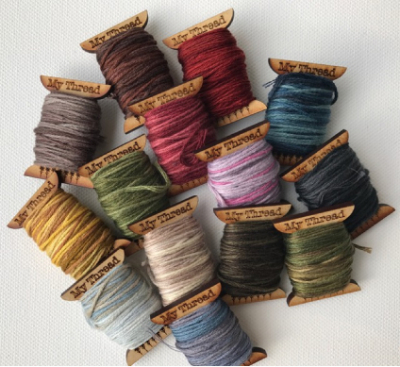 Spools with thread