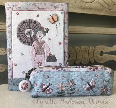 Kimono-lady-journal-and-pencil-case copyright