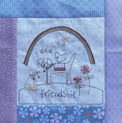 Sampler Design Fabric Napkin by Park Designs 18 x 18 inches
